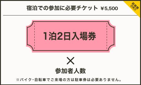 宿泊での参加に必要チケット¥7,000