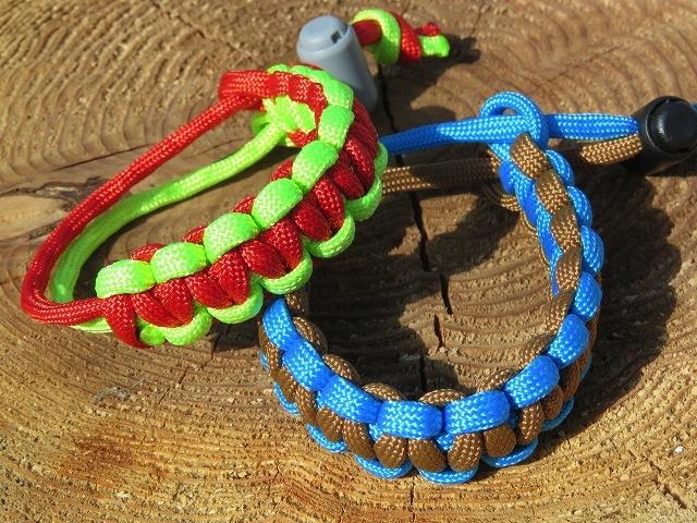 野鳥の色のロープで編むブレスレットづくり