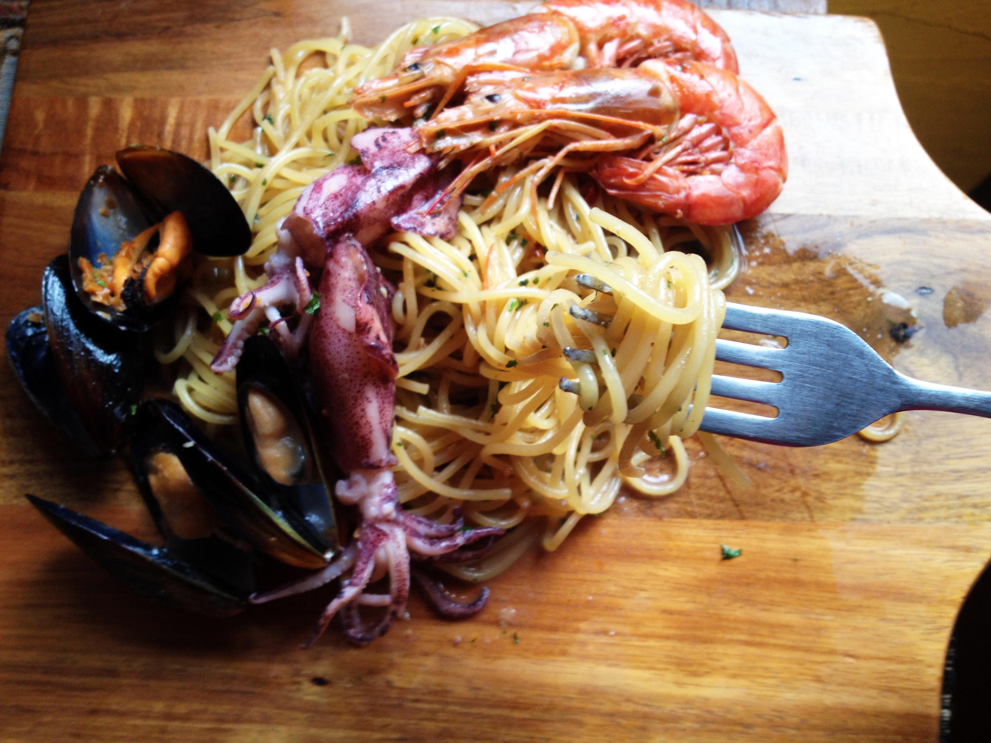 料理教室 山の中で食べる贅沢ペスカトーレ
