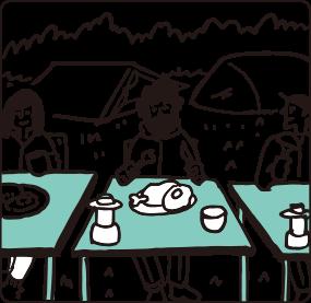 会場内での飲食
